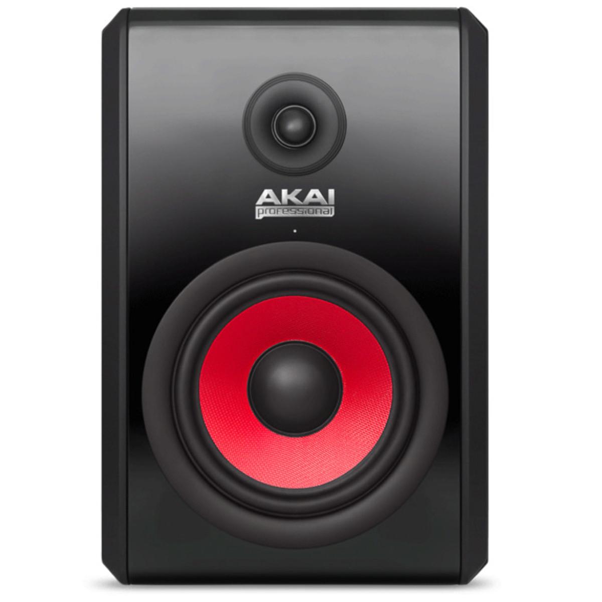 AKAI RPM 800 Aktiver Studiomonitor Schwarz/Rot für 160,- EUR incl. Versand