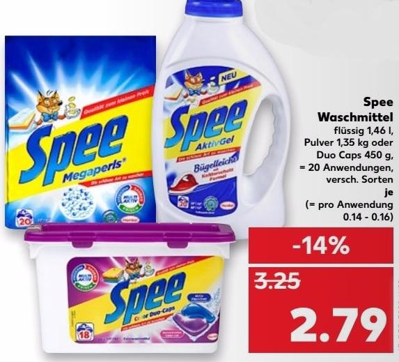 [Kaufland] Spee Waschmittel für 9ct / WL