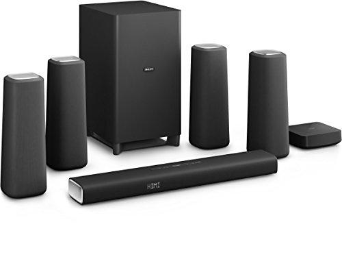 [Amazon Prime] Philips Zenit CSS5530B/12 kabellose Surround-Kinolautsprecher (Subwoofer, Bluetooth, NFC, HDMI 4K-2K) schwarz