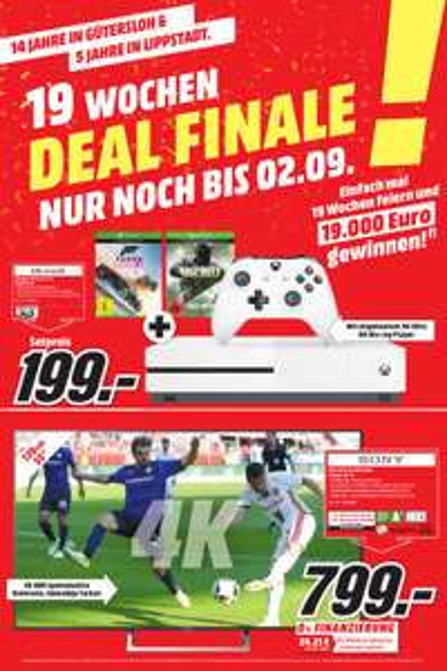 [Lokal Media Markt Gütersloh/?Lippstadt?] XBOX ONE S 1TB inkl. Forza Horizon 3  COD Infinit Warfare