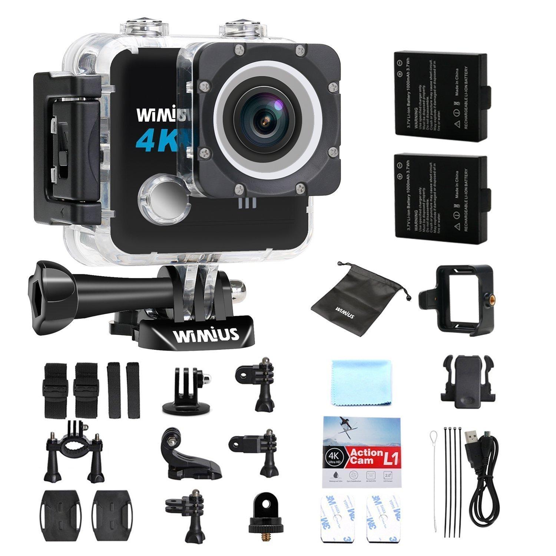 Wimius L1 4K Action Cam mit Zubehör bei Amazon.de (18,25€ Rabatt)