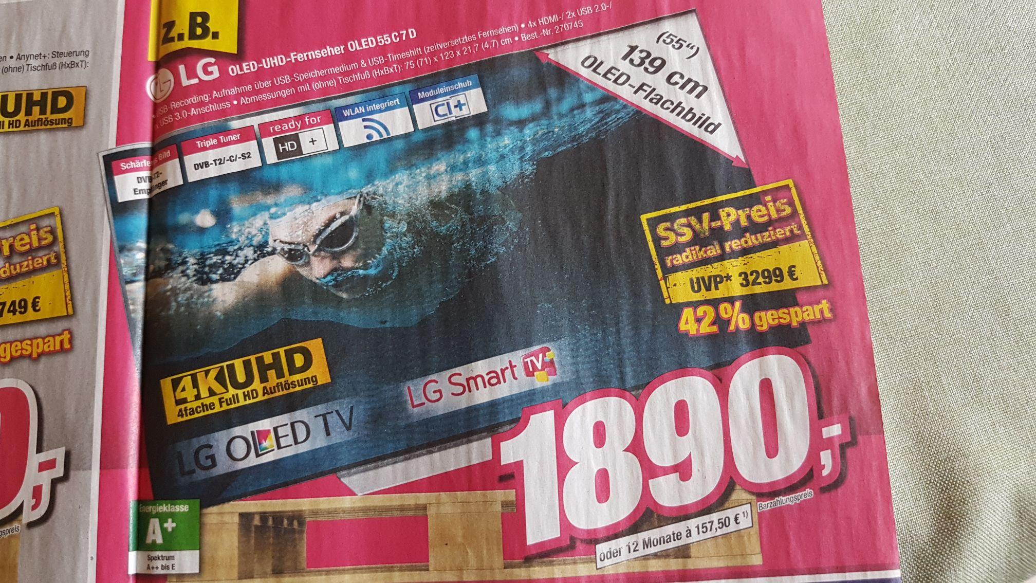LG 55 C7D OLED UHD [lokal Telepoint]