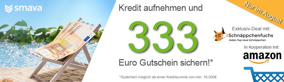 Smava-Verbraucherkredit mit Bonus – 333€ Amazon-Gutschein ab 16.000€ Kredithöhe
