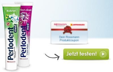 Produkttest bei Rossmann - Perlodent Zahncreme