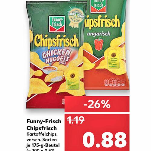 (Kaufland) Funny-Frisch Chipsfrisch für nur 88 Cent !
