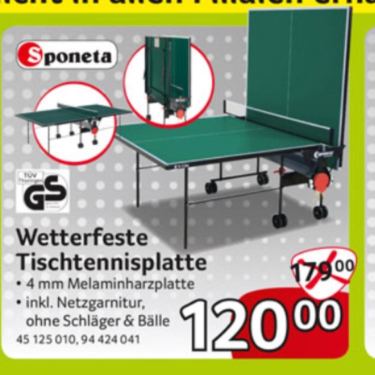 (Selgros Lokal) Wetterfeste Sponeta Tischtennisplatte mit Netz