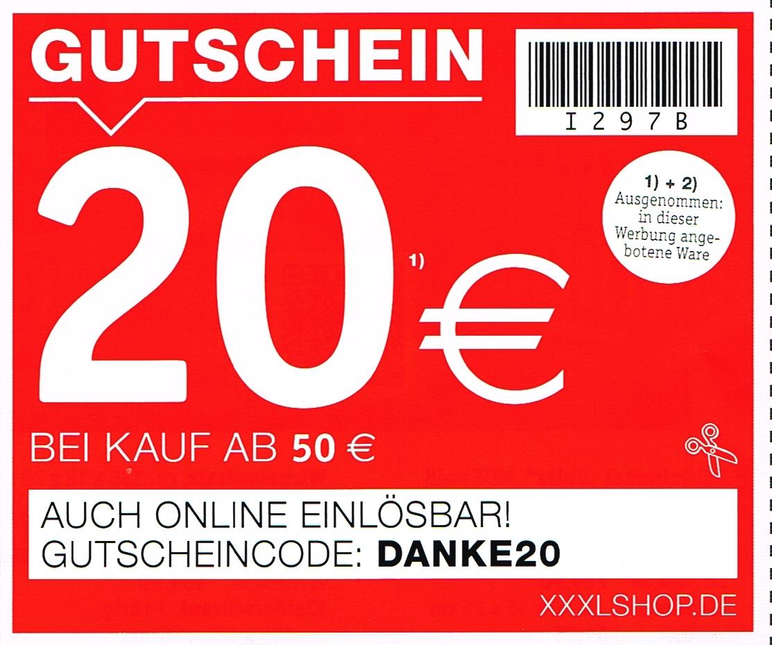 xxxlshop - 20€ Rabatt ab 50€ Kauf (nicht auf Sale)