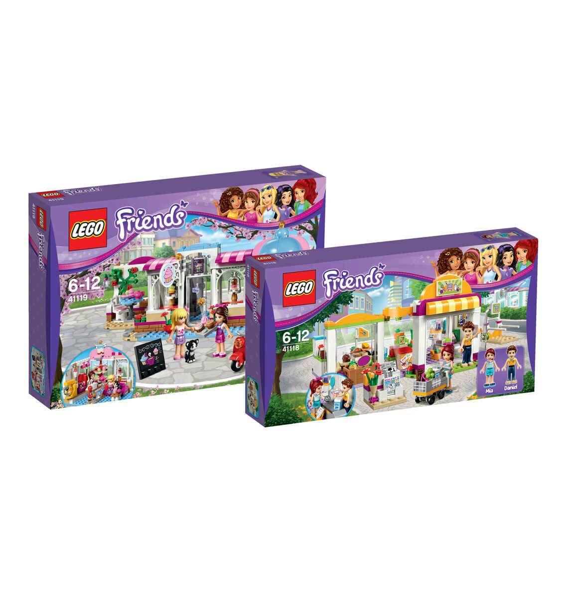 (GK) LEGO Friends Bundle Friends Supermarkt 41118 & Cupcake-Café 41119  (VSK 3,95€/ entfällt ab 50€ Bestellwert)