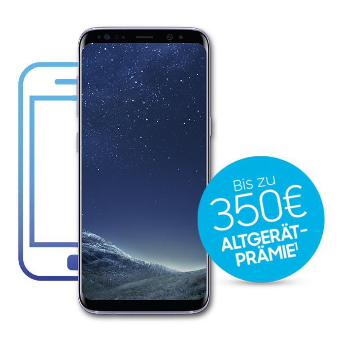 S8 oder S8+ kaufen und bis zu 350 € für dein altes Smartphone kassieren.