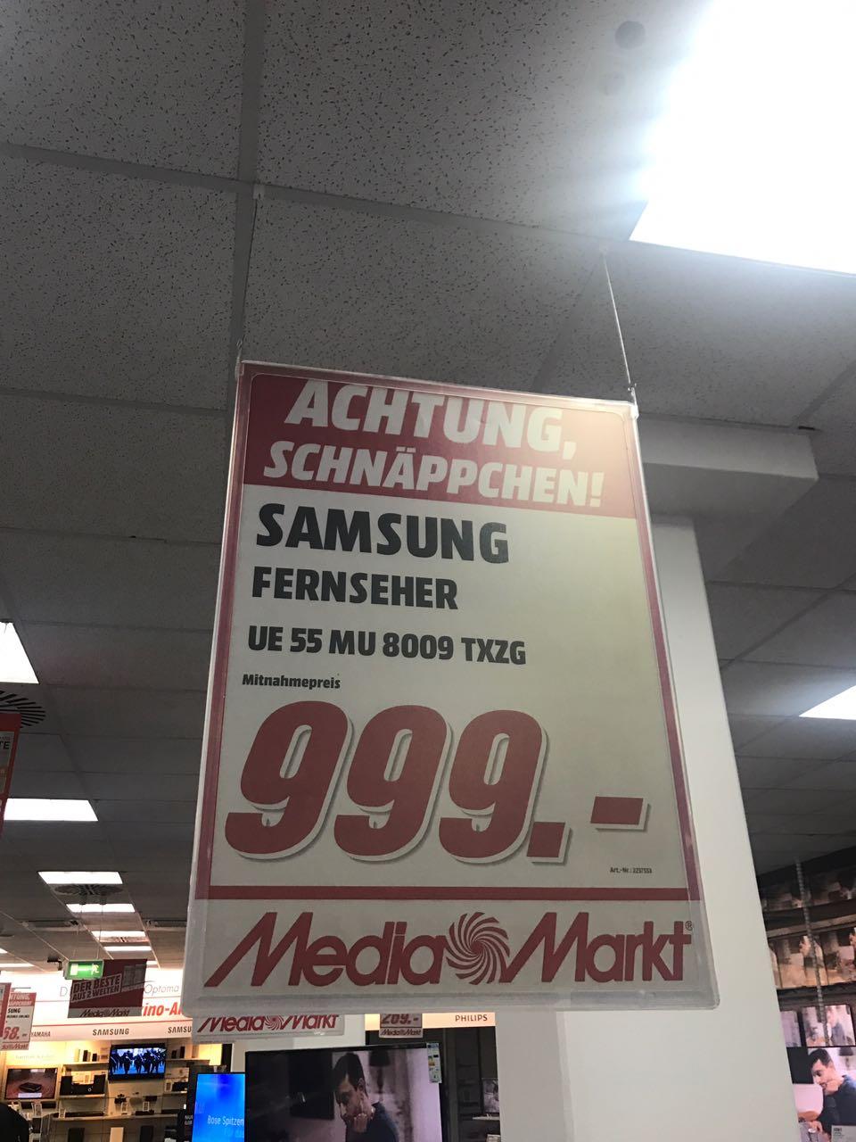 [LOKAL] MM Aschaffenburg - Samsung 55 MU 8009 (4K, 120hz Nativ, Smart TV, PVR, Twin Triple Tuner)