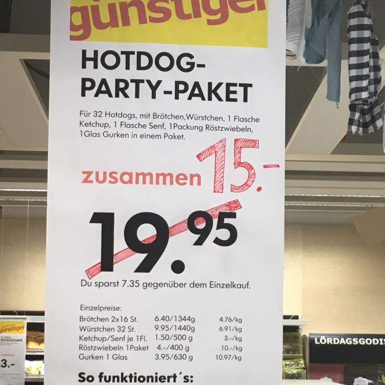 Ikea Hamburg Moorfleet Hotdog Partypaket 32 Stück