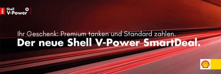 Shell V-Power SmartDeal 1 Jahr kostenlos für die ersten 800 Anmeldungen @ clever-tanken.de