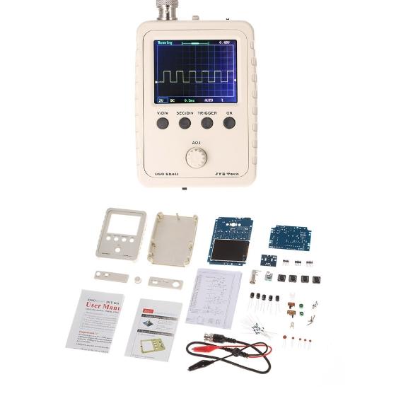 JYE Tech DS0150 Oscilloscope Kit mit Gehäuse zum Selberbauen @TomTop
