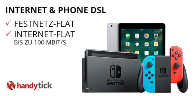 VERLÄNGERT: Vodafone DSL oder Kabel Deutschland ab 19,99 € / Monat + Nintendo Switch oder Apple iPad WiFi 32GB ab 69€ Zuzahlung