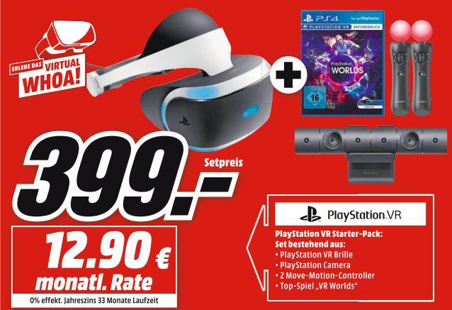 [Mediamarkt ] SONY PlayStation VR + Move Motion Controllers + Camera + VR Worlds  für 399,-€ // Logitech G29 Driving Force Lenkrad inc.F12017 Special Edition für 222,-€ // Logitech G213 PRODIGY RGB Gaming Tastatur für 37,-€**Angebote Online!