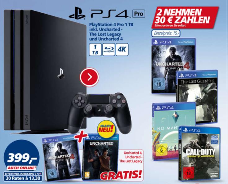 UPDATE: Ab heute bundesweit bei Real - Zwei PS4 Titel für 25€ - Uncharted 4, The Last Guardian, No Mans Sky und Call of Duty: Infinite Warefare
