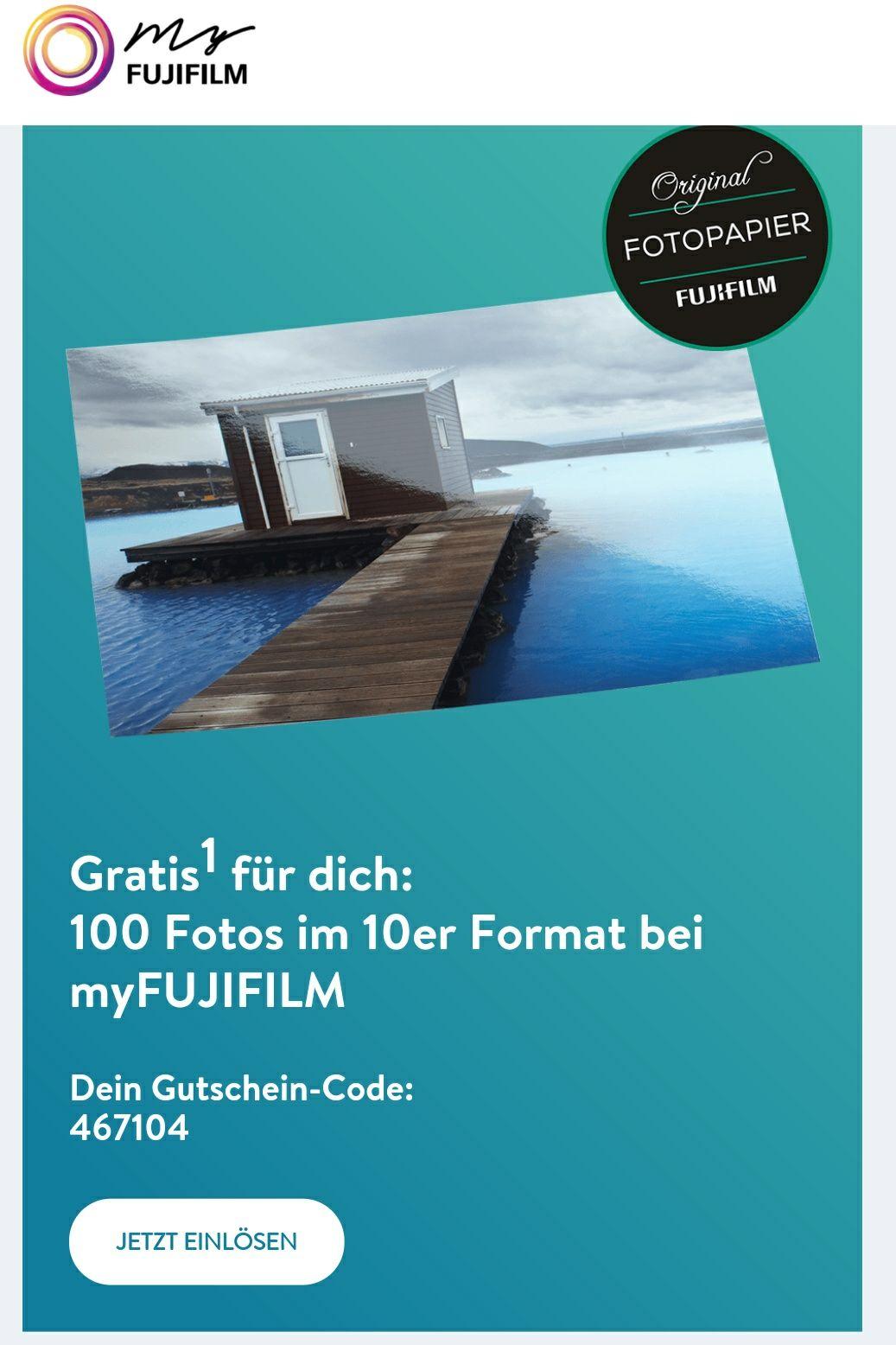 """100 Bilder im 10er Format """"gratis"""" plus 2,99€ Versandkosten auf myfujifilm.de  (Neukunden)"""