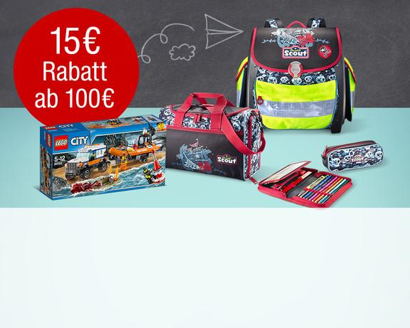 Galeria Kaufhof: 15€ Rabatt ab Einkaufswert von 100€ bei Spielwarenh und Schreibwaren + 20€ Gutschein