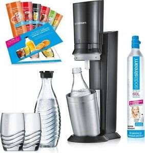 SodaStream Crystal 2.0 Sparpack (2x Glaskaraffe, 2x Glas, 6x Sirup, 1x CO2) für 89,21€ [Ebay Plus] bzw. 104,95€ [ohne Plus]