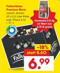 Netto MD - Falkenfelser Bier (div. Sorten) Euro 6,99 - Sack Grillkohle geschenkt