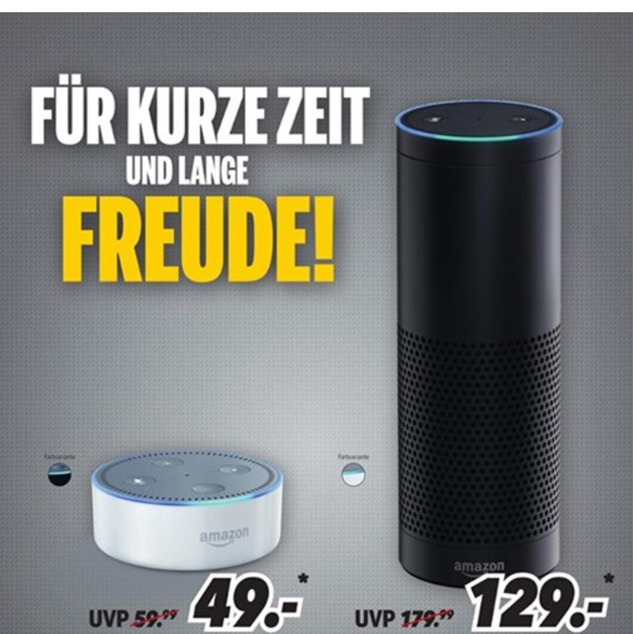 [lokal] Amazon Echo 129€ / Echo Dot 49€ - MEDIMAX Gera 28.08.-02.09.
