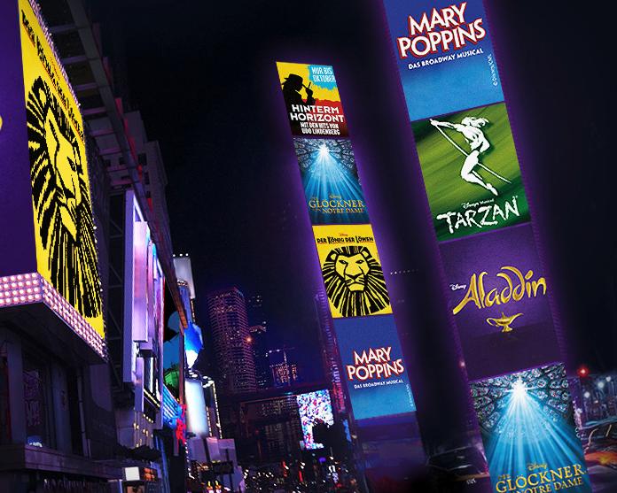 Stage Entertainment Tickets für Aladdin, Der König der Löwen, Glöckner von Notre Dame, Mary Poppins, Tarzan oder Hinterm Horizont ab 48€ bei [Vente-Privee]
