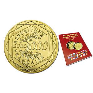 1000 Euro Goldmünze + Euromünzenkatalog für 1000 Euro flat - portofrei