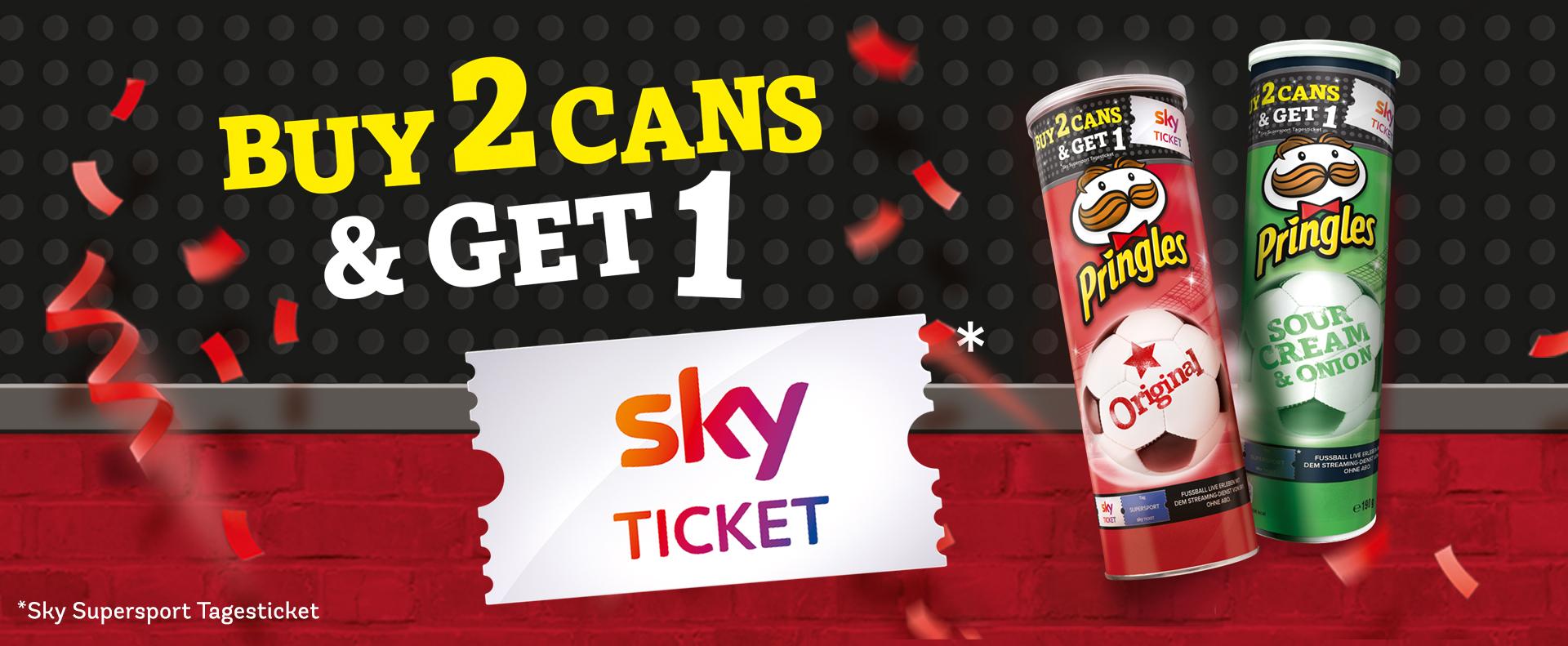 2x Pringles kaufen und 1 Sky Supersport Tagesticket erhalten [z.B. grade Pringles bei Aldi Nord für 1,39€]
