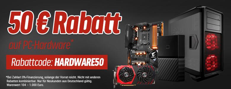 50€ Rabatt auf PC Hardware  ---||--- MBW 104€ ---|||---  bei 0% finanzierung Notebooksbilliger