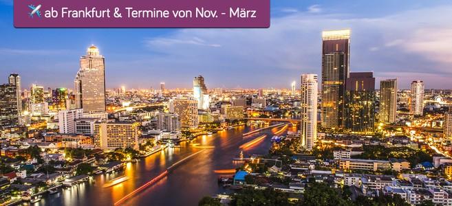 Hin/Rückflüge FRA<->Bangkok, Nov'17-Mär'18, 46kg Gepäck, je ca. 16h mit 2h-Stop in KWI, 375€