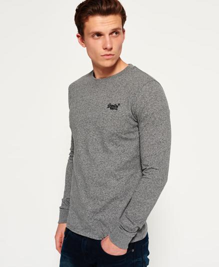 Neues aus dem Superdry-Sale: Langarm Shirt in Grau aus 100% Baumwolle (Gr. S, M, L, XXXL) für 17,95€ statt 33€