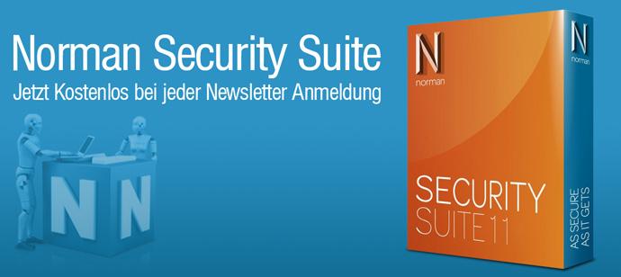 Norman Security Suite 11 kostenlos als Download durch Newsletter Anmeldung