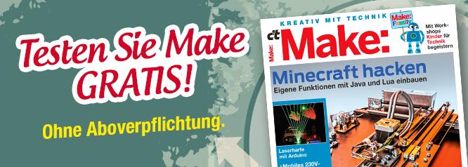 1x Make Magazin Gratis, ohne Abo (keine Kündigung notwendig)