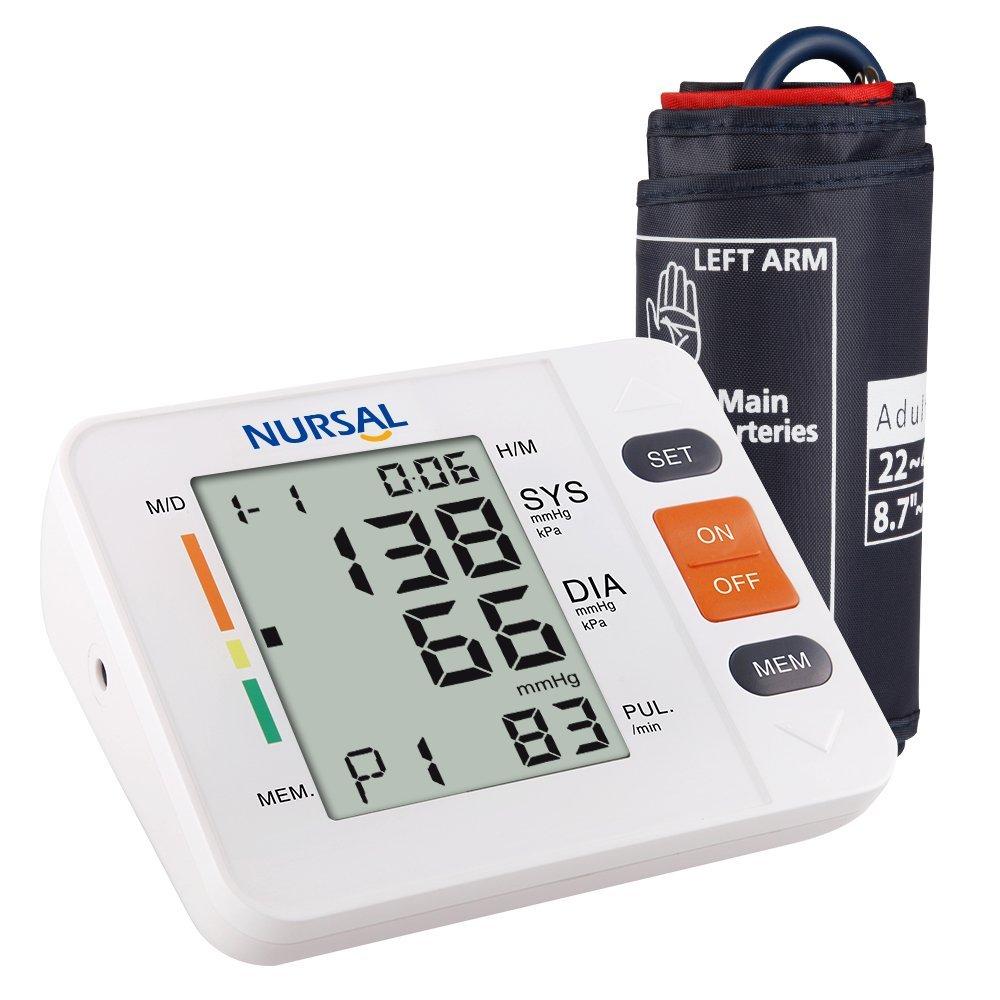 NURSAL Digitales Oberarm Automatisches Elektronisches Blutdruckmessgerät für 19,99€ [Amazon]
