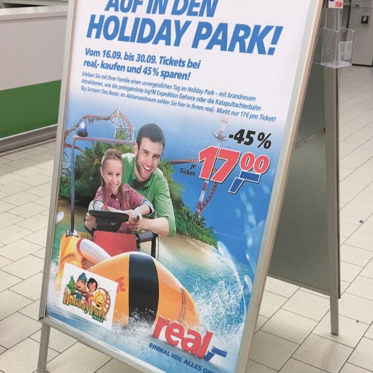 [Lokal?] Holidaypark Eintrittskarten für 17€ bei real