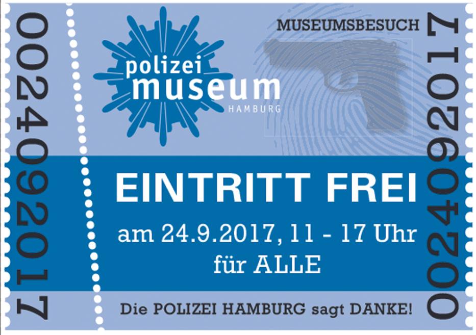 Polizeimuseum Hamburg freier Eintritt – Sonntag, 24. September 2017