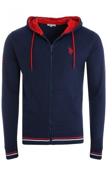 U.S. POLO ASSN. Sweat Jacket With Hood Herren Sweatshirt-Jacke