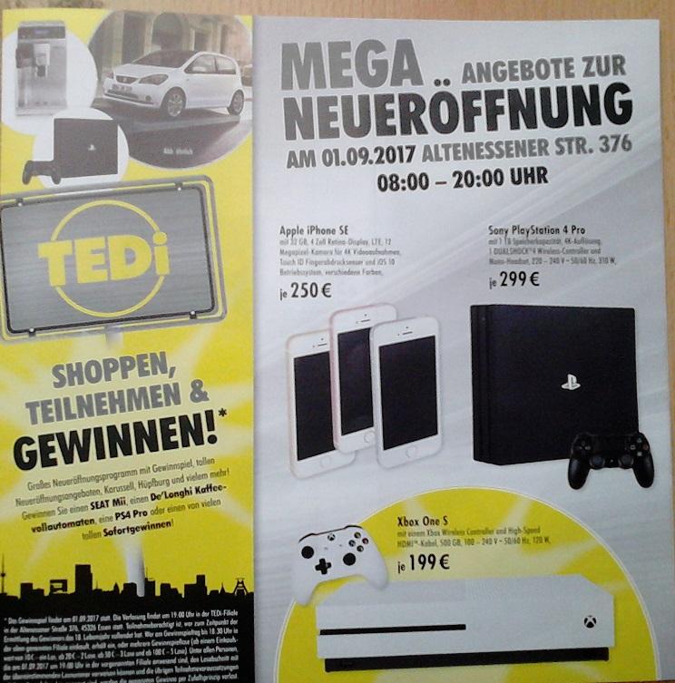 [LOKAL/Essen] Playstation 4 Pro für 299€ bei TEDI