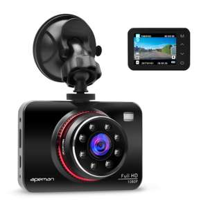 [Amazon] APEMAN Full HD Dashcam / Autokamera für 45,49€ statt 69,99€