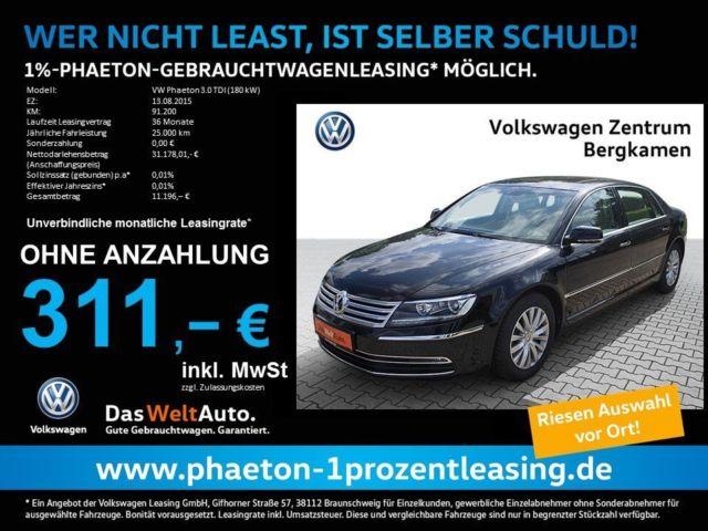 VW Phaeton V6 Lang Gebrauchtwagen Leasing 25TKM p.a, 36 Monate ab monatlich 311€ Ohne Anzahlung