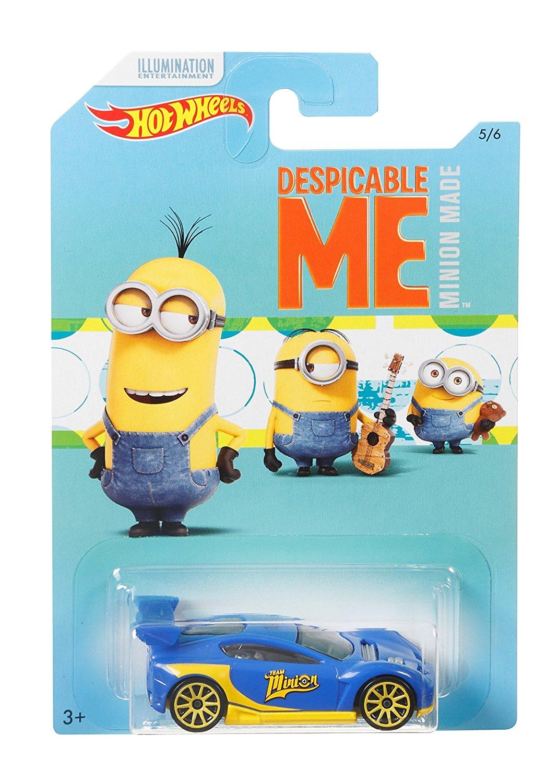 Amazon Prime Mattel Hot Wheels DWF12 Limited Car Minions, je 1 Fahrzeug, zufällige Auswahl