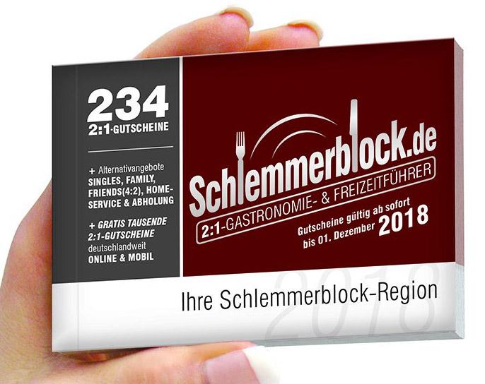 Schlemmerblock 2018 ab 12,46€ (bei Abnahme von 5 Stück) statt 34,95€