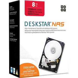Wieder verfügbar: HGST Deskstar NAS HDD 8TB (3,5'') für 229,90€ [Ebay]