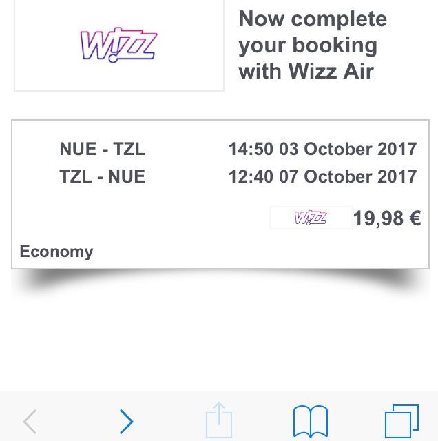 Flug Nürnberg - Tuzla Hin und zurück unter 20 Euro im Oktober