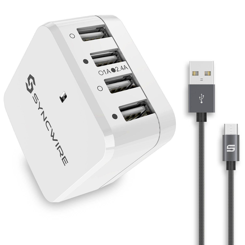 Syncwire USB-Reiseadapter 34W, 6,8A, mit Kabel