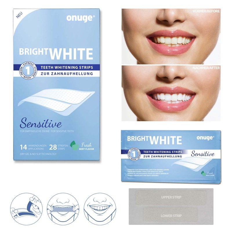 Onuge Bright White Strips zur Zahnaufhellung - 100% Gutschein