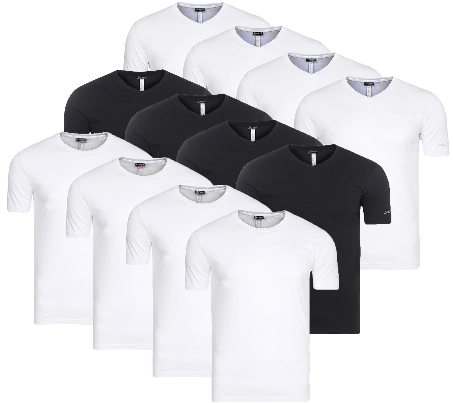 4er Pack Kappa Sebbo 2 & Tobias Herren T-Shirt Unterhemd (Outlet46)