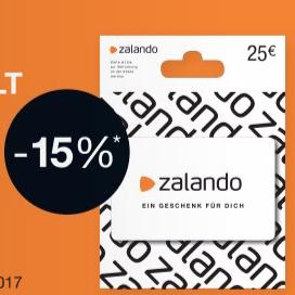25€ Zalando Gutscheine für 21,25€ (-15%) bei Rossmann [HEUTE]