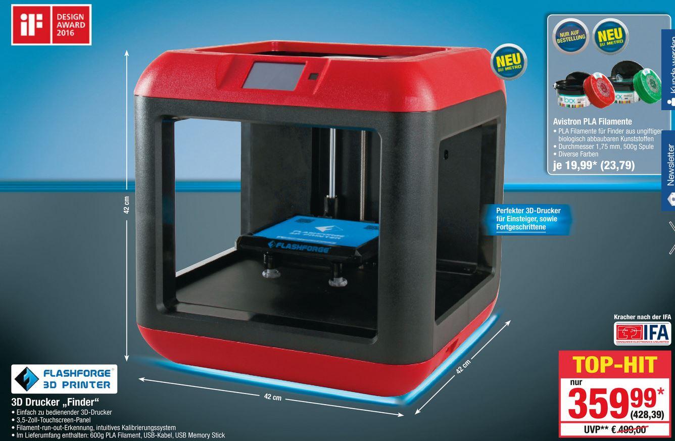 [Metro] Flashforge 1169 3D Drucker