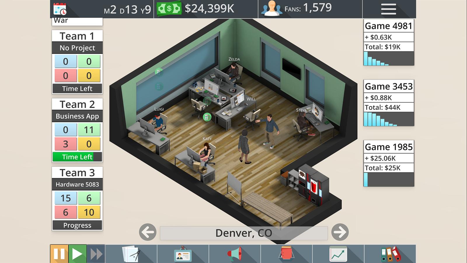 Game Studio Tycoon 3 kostenlos (statt 4,09€) [Android]